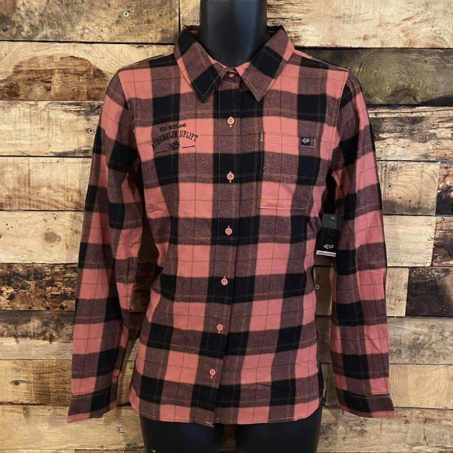 Fox Pine Flannel Ladies Rose
